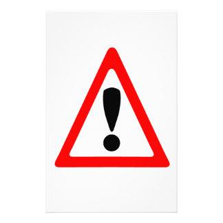 Warning Symbol Personalised Stationery