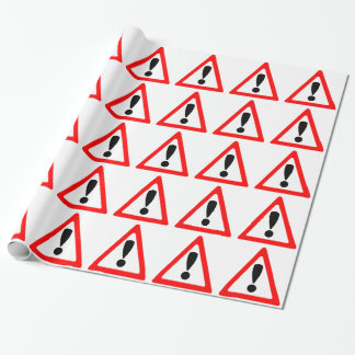 Warning Symbol Wrapping Paper