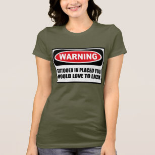 Caution i lick at anytime tshirt photo 200