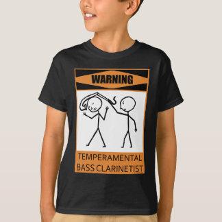 Warning Temperamental Bass Clarinetist T-Shirt