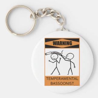 Warning Temperamental Bassoonist Key Ring