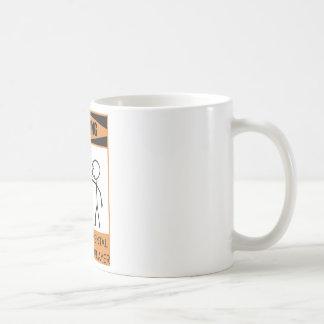 Warning Temperamental Handbell Player Basic White Mug