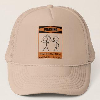 Warning Temperamental Handbell Player Trucker Hat