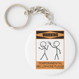 Warning Temperamental Mellophone Player Key Ring