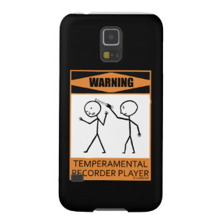 Warning! Temperamental Recorder Player Galaxy S5 Covers