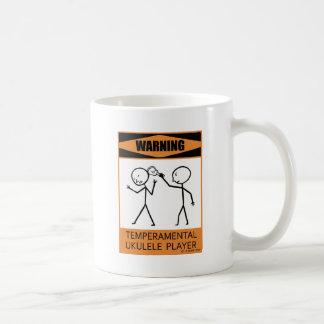 Warning Temperamental Ukulele Player Coffee Mug