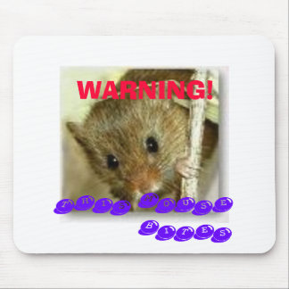 WARNING!, THIS MOUSE BITES MOUSE MAT