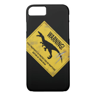 Warning! This Property is Protected by Raptors iPhone 7 Case