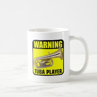 Warning Tuba Player Basic White Mug