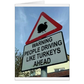 Warning Turkey drivers ahead Cards