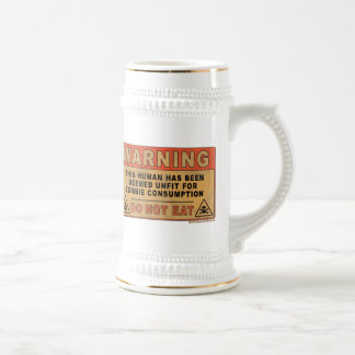Warning Unfit For Zombie Consumption Beer Stein