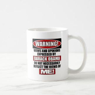 Warning! Views Express By Obama Basic White Mug