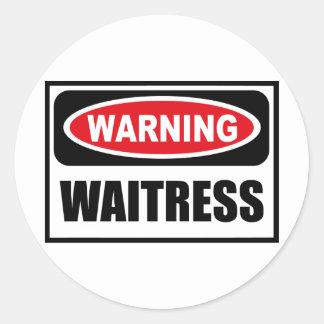 Warning WAITRESS Sticker