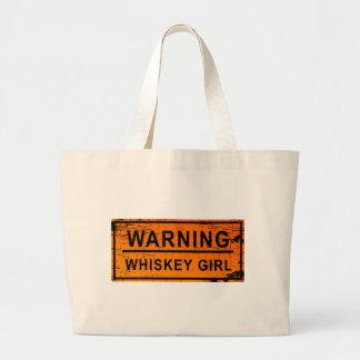 Warning - Whiskey Girl Jumbo Tote Bag