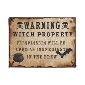 Warning Witch Property Doormat
