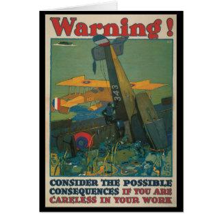 Warning World War II Greeting Card