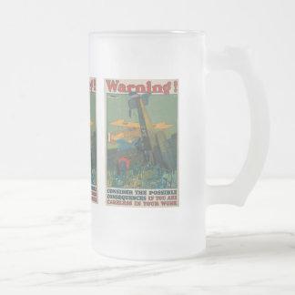 Warning World War II Mugs