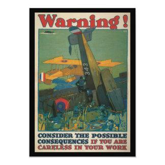 Warning World War II Personalized Announcement
