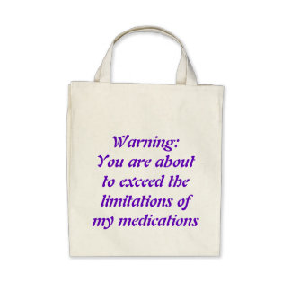 Warning You are about to exceed the limitations Bag