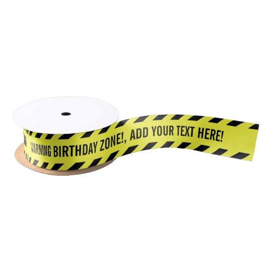 warning your custom text do not cross tape satin ribbon zazzle co uk