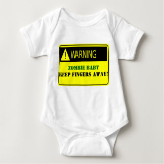 WARNING-ZOMBIE BABY KEEP FINGERS AWAY BABY BODYSUIT