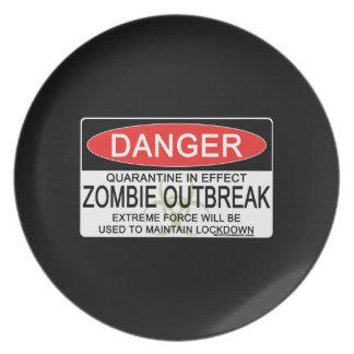Warning - Zombie Outbreak Plate