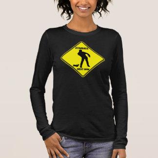 Warning: Zombies - Ladies Long Sleeve T-Shirt