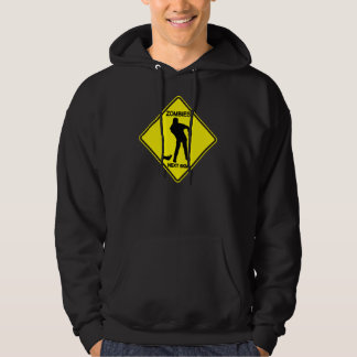 Warning: Zombies - Men's Hooded Pullover