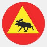 Warnung vor dem Elch Sticker
