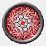 Warp Drive Design 2 Round Sticker