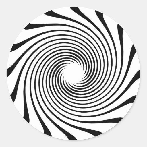 Warp Drive Design Round Sticker