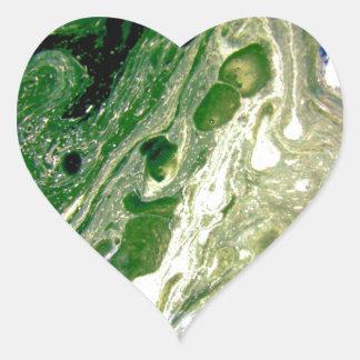 Warp green purple white space heart sticker