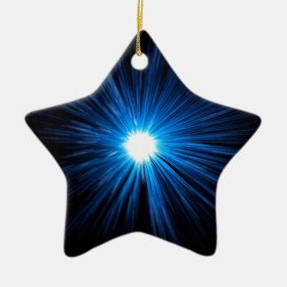 Warp speed blue. ceramic star decoration