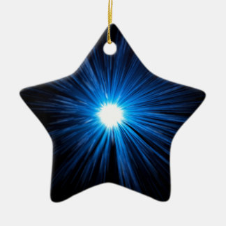 Warp speed blue. christmas ornament