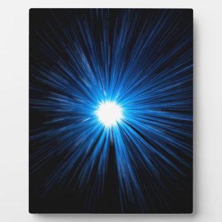 Warp speed blue. plaque