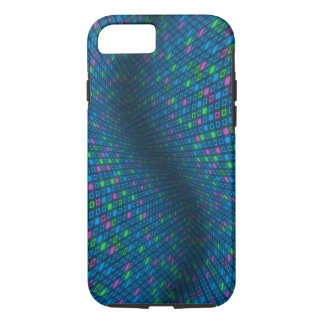Warped Bluish Squares iPhone 7 (Tough) Cover