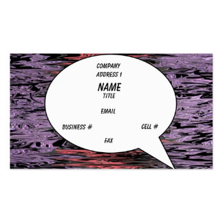 Warped Bubble Card (Balloon) Pack Of Standard Business Cards