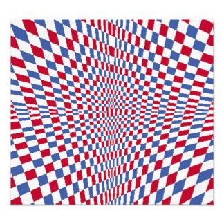 Warping square stylish pattern photo art
