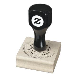 warranty 25 days rubber stamp