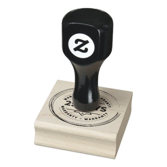 warranty 29 days rubber stamp