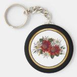 Warratha Flannel Flower Basic Round Button Key Ring