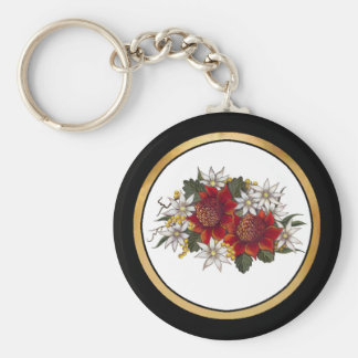 Warratha Flannel Flower Key Ring