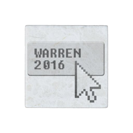 WARREN 2016 CURSOR CLICK STONE MAGNET