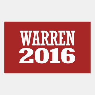 WARREN 2016 RECTANGULAR STICKER