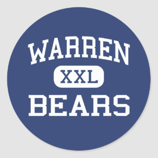 Warren - Bears - High School - Downey California Classic Round Sticker