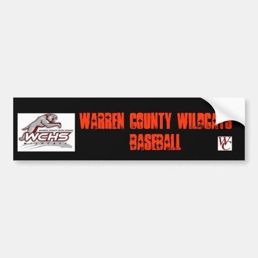 Warren County Baseball Bumper Sticker