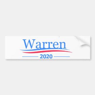 Warren for President 2020, classic Bernie white Bumper Sticker