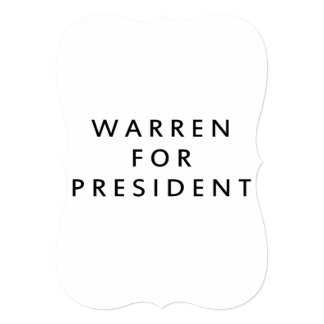 WARREN FOR PRESIDENT PERSONALIZED ANNOUNCEMENT