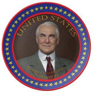 Warren G. Harding 29th President Porcelain Plates