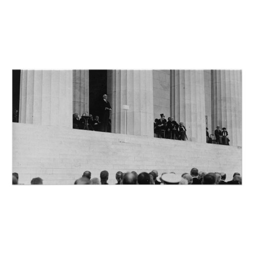 Warren G. Harding Dedication Lincoln Memorial Picture Card